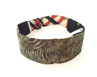 S-M  H17 Reversible Headband,african fabric headband, womens headband, girls headband,head band, yoga headband, dreadlock headband