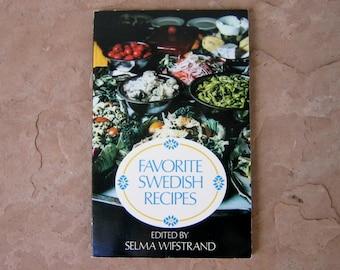 Swedish Cook Book, Favorite Swedish Recipes Cookbook, Swedish Recipes, Vintage 1975 Cookbook