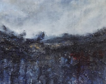 Gone-original acrylic mixed media on canvas