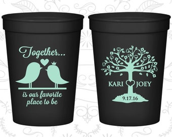 Together is our favorite place to be, Cheap Plastic Cups, Wedding Tree Cups, Wedding Love Tree, stadium cups (81)