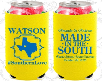 Southern Love (C599) Made in the South, Neoprene Wedding, Country Wedding, Rustic, Neoprene Wedding Favors