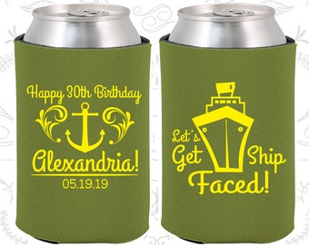 30th Birthday, 30th Birthday Favors, Personalized Birthday Ideas, Lets Get Ship Faced, Anchor Birthday, Nautical Birthday (20026)