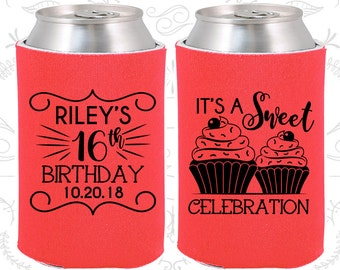 16th Birthday, Sweet 16 Favors, Adult Birthday Party Favors, It's a sweet celebration, Cupcake Birthday Favors, Party Favors (20041)