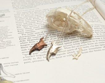 Copper Rabbits Jaw necklace (Left)