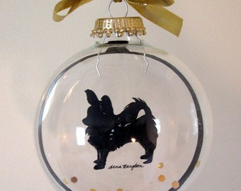 Long Haired Chihuahua Ornament, Dog Gifts for Dog Lovers