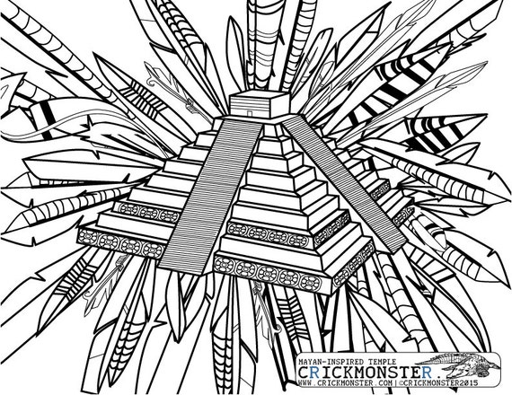 aztec coloring pages mexico - photo#26