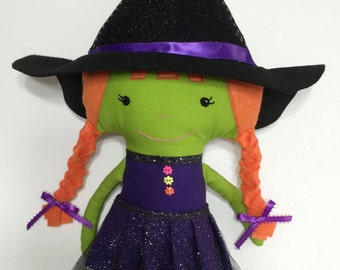 Halloween Witch Handmade Doll