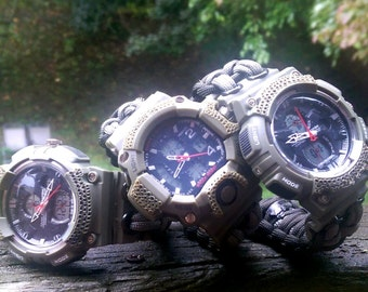 Military Survival Paracord Watch