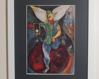 """Mounted and Framed - The Juggler Print by Marc Chagall - 16"""" x 12"""""""