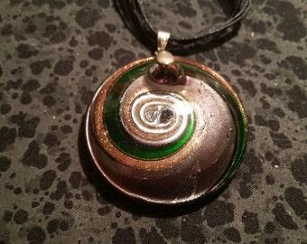Purple Swirled Glass Necklace