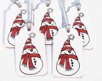 Snowman Gift Tags, Christmas Gift Tags, Holiday Gift Tags, Gift Tags, Snowman Favor Tags, Snowman