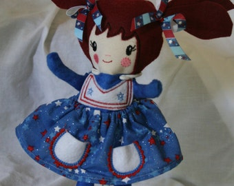 Handmade ragdoll, made with Dolls and Day Dreams Pattern