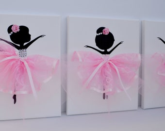 Ballerina Wall Art nursery wall art for babies and childrens room.florasshop