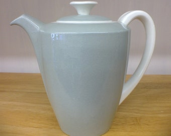 Vintage 1950s Poole Pottery Sage Green Coffee Pot