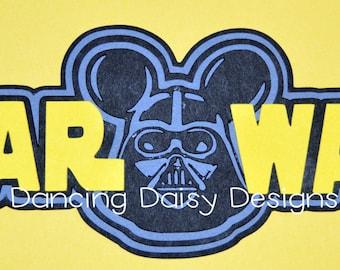 Disney scrapbooking, Star Wars Scrapbooking, Disney die cut, Star Wars Die cut, Darth Vadar, Darthy Mickey