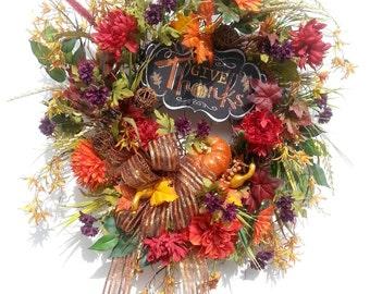 autumn wreath thanksgiving wreaths autumn front door wreaths fall wreaths for front door - Fall Decorations For Sale