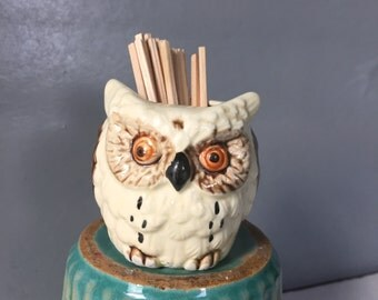 Vintage  Retro Ceramic Toothpick Holder, Kitsch