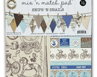 Canvas Corp Mix & Match Pad, Snips and Sails Collection, 12X12 Scrapbooking and Paper Crafting