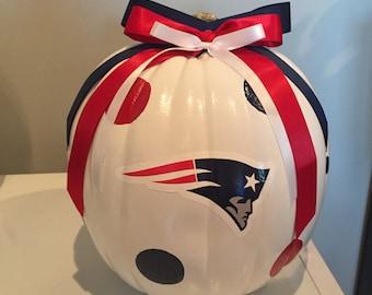 New England Patriots craft pumpkin