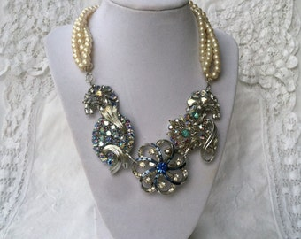 Bridal Brooch and Pearl Necklace