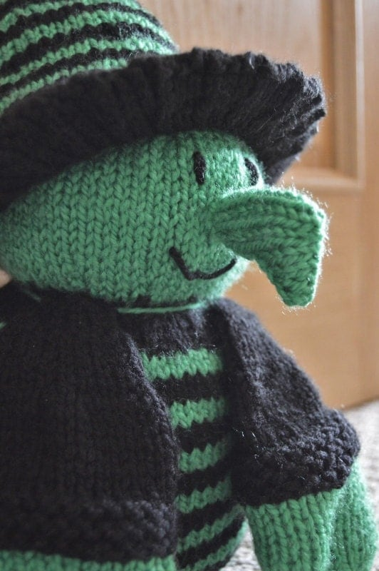 KNITTING PATTERN - Witch Doorstop from KnittingByPost on ...