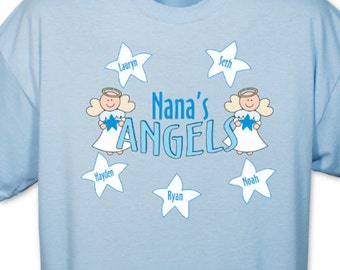 Personalized My Angels River Blue T-Shirt