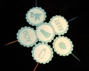 Baby Shower Boy Cupcake Toppers