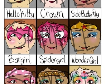 2015 Super Face Painting Menu- Part 2 of 2- Digital Download