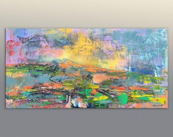 Abstract Canvas Art, Large Wall Art Canvas, Original Art, Painting Abstract,  Landscape