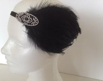 Roaring 20s Headband, Flapper Headband,  Great Gatsby Headpiece Art Deco fascinator  Gatsby headpiece r20s party dress great gatsby