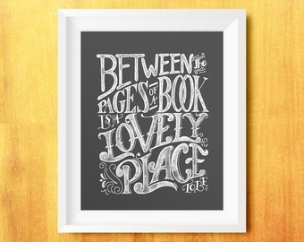 Between the Pages Printable Quote (Lettering, Typography)