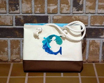 Custom Embroidered Initial Handbag