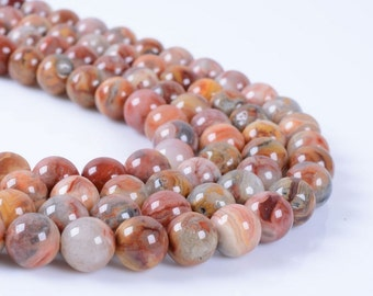 """8MM74 Red crazy lace agate round ball loose gemstone beads 16"""""""