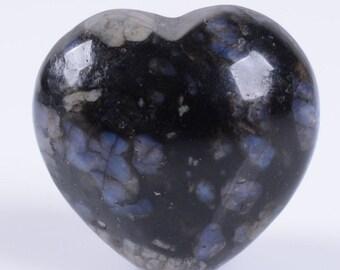 "g3901x2 2pcs of 21mm  Llanite puff LOVE hearts Crystal healing Reiki pocket stone 0.8"""