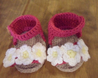 Baby Sandals - Crocheted sandals