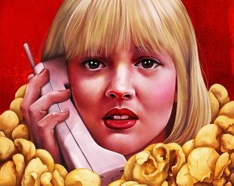 Drew Barrymore Scream Print