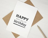 Funny 50th birthday card Happy 18262 days old birthday 50 years old