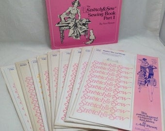 Ann Person Stretch & Sew Book Part 1 and (EIGHT) Patterns, 1970's