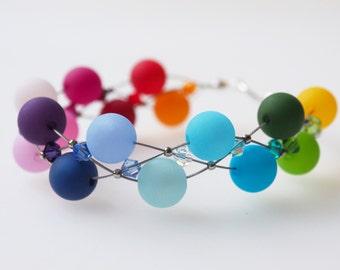 rainbow bracelet polaris bracelet colorful with Swarovski® Kristallen