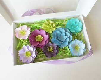 Lovely Seed Paper Flower Gift Set   Purple And Blue Flowers   Unique Gardening Set    Plant