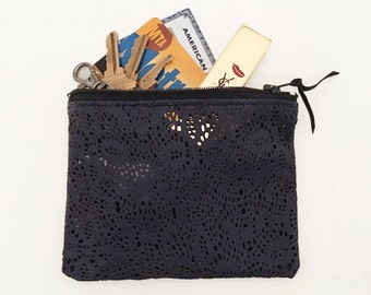 Leather coin pouch - leather coin purse - gift for her - bridesmaid gift