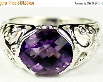 Valentines Sale 30% Off, SR360, Amethyst, East-West 925 Sterling Silver Ring
