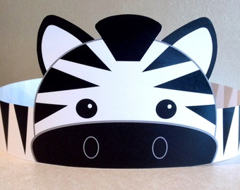 Zebra Paper Crown - Printable