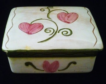Stangl Pottery Terra Rose Trinket Box