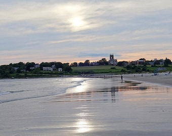 Newport, RI Sunset, Second Beach, Middletown RI,  Rhode Island, New England, Beach Photography, Ocean Decor