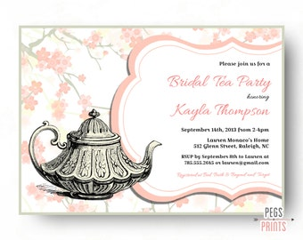 Garden Party Bridal Shower Invitation -Tea Party Bridal Shower Invitation (Printable) Bridal Tea Invitation - Bridal Tea Party Invitation