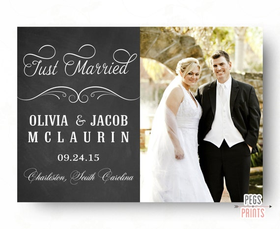 Marriage announcements cards thank you card