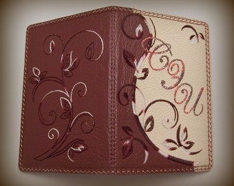 Leather Passport cover with initials / Personalized case/ Monogrammed holder
