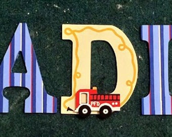 Fire Fighter Wooden Letters