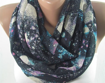 Infinity Scarf Galaxy Scarf Nebula Circle Scarf Loop Scarf Winter Fashion Scarf Women Fashion Accessory Christmas Gifts For Her
